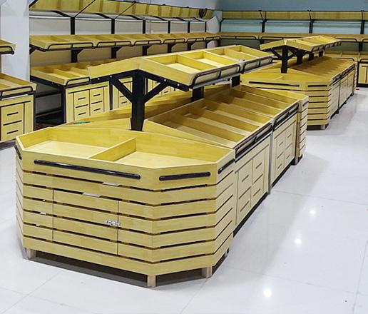 果蔬钢木货架